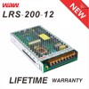 Slim type 12v 16.7a 200w LRS-200-12 ac to dc 110V/220V LED Power Supply with CE ROHS approved