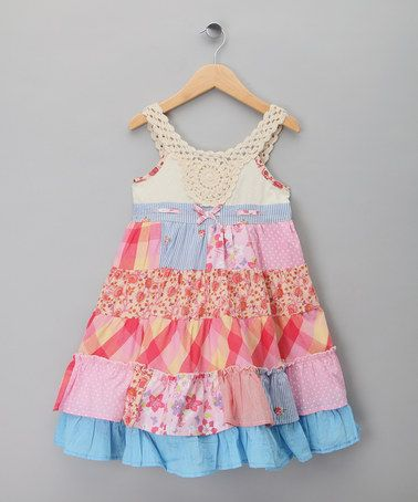Latest remake baby girls boutique scrappy sewing flower pattern lace trim ruffle kids frock dresses