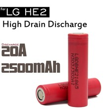 Authentic LG HE2 18650 2500mah 35a discharge 18650 battery high drain lgdbhe21865