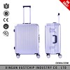 2016 hot sale aluminum frame ABS/PC sky travel luggage bag