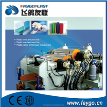 0.2-2mm thickness PET/PP/HIPS/PE/EVA single and multi-layer sheet extrusion line