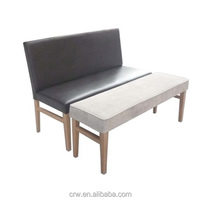 RCH-4318 Wooden Fabric Bench Chair With Ottoman