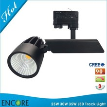 Dimmable 230V COB LED Track Light Gallery Surface Mounted Rail 4 Wire EU System