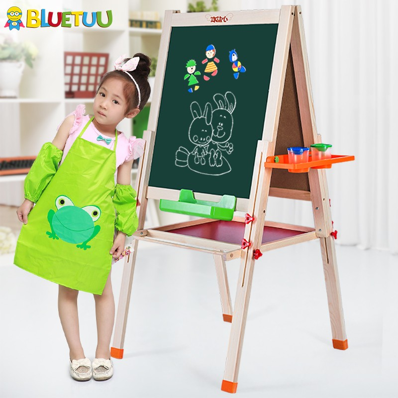 EN 71 and CE kids educational toy for drawing with easel standing board