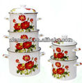 high stock pot Enamel Casserole Pot/Enamel Stock Pot