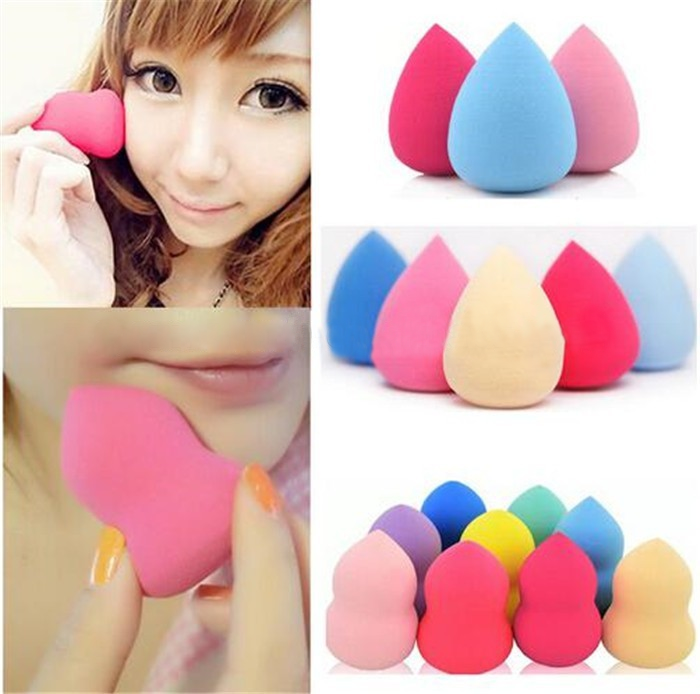 colorful latex free make-up sponge private label oval makeup puff