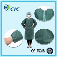 Disposable Hospital Clothing Patient Gown With Long Sleeve