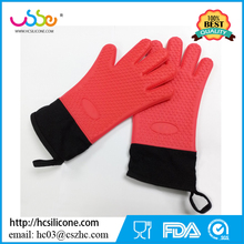Cake Mold Cooking Waterproof Anti Slip Finger Baking Heat Resistant Custom Kitchen Household Oven Rubber Silicone Cotton Glove