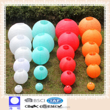 "Round Multi Paper Lantern 12"" 14"" 16""18"" 20"" Wedding Party + Led Light Decor"