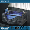 HS-B313A big chinese clear jetted black square bathtub size