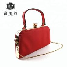 Luxurious women tote pu tote hand bag with chain