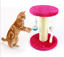 New Arrival Pet Cat Toy Cat Tree Kitten Climbing Frame Funy Mouse/Ball Mini Jumps Stump Toys Products For Cats 4 Colors Optional