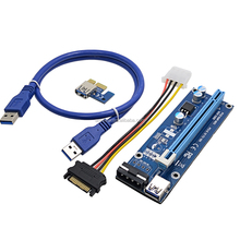 PCI-E PCI Express Riser 1X to 16X USB 3.0 For Bitcoin Litecoin Mining Graphics Card With Power Supply
