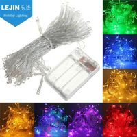 Professional green battery operated string lights for festive decoration