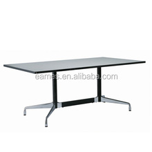 Durable aluminum alloy emes style conference table base, table and chair set