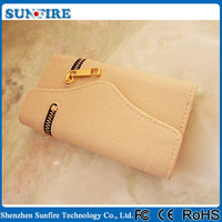 2015 New product Zipper Wallet Leather case for iPhone 5 / 5s