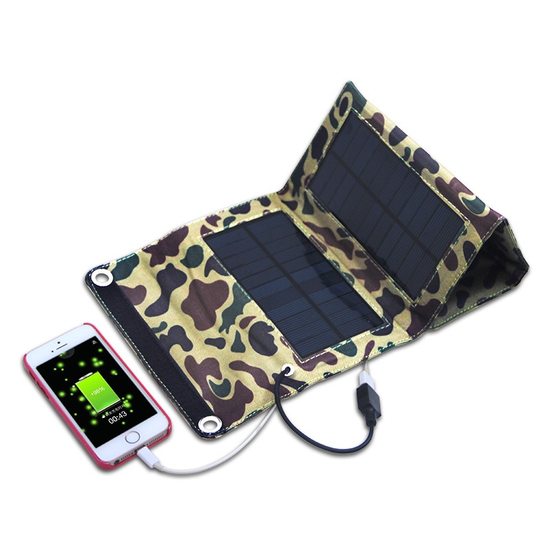 7w Portable solar panel charger for power bank, mobile phone charger China factory directly accept OEM