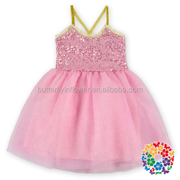 High Quality & Soft Material Wholesale Girl Sequin Dress Shinning Baby Girl Party Dress Children Frocks Designs 3 Year Old Girl