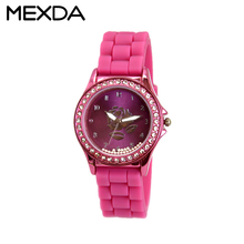 branded new fashion water resistant ladies silicone band high quality latest design watches