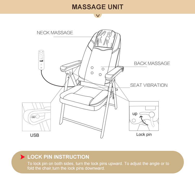 2019 New design best selling electric full body massage chair