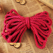 Braided Colorful Cotton Handle Rope