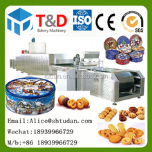 500kg/h maquinas para hacer galletas Industrial Full Automtic cookies making machine cookies manufacturing process