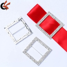 Manufacturer 50mm 60mm inner double rows rhinestone square ribbon slider buckles
