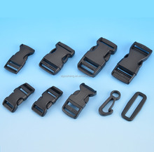 Custom luggage bag accessories plastic insert buckle