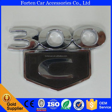 Custom Chrome Parts Car Logo 300C Letter ABS Emblem Sticker