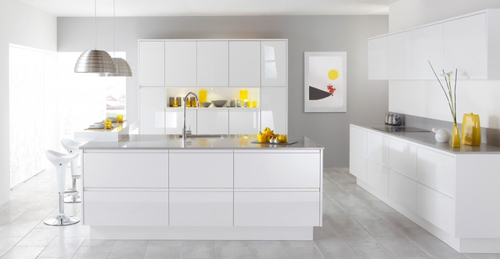 New Modern Italian Style High Gloss Lacquer Painting Kitchen