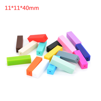 Wholesale silicone teething beads multi color and shape FDA rubber loose teether