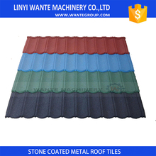 eatable waxed colorful rubber roof tile made in china stone coated steel for custom