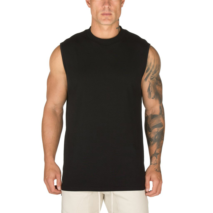 Hot sale plain blank white men tank top gym comfortable design your own stringer tank top blank mens stringer singlet wholesale