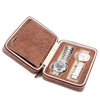 Luxury Costom brown leather Watch box retail Travel watch packaging box