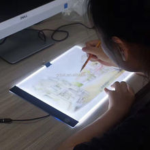 Led drawing board for student/ designer/teacher with DC 5V adapter and Acrylic pannel