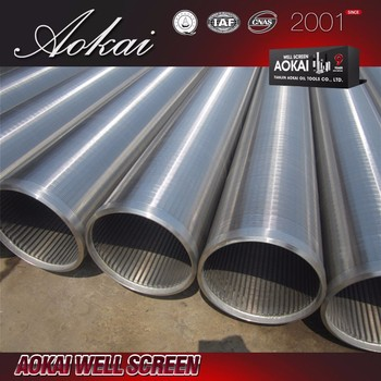 stainless steel 304 316L johnson screen pipe uesd in water well