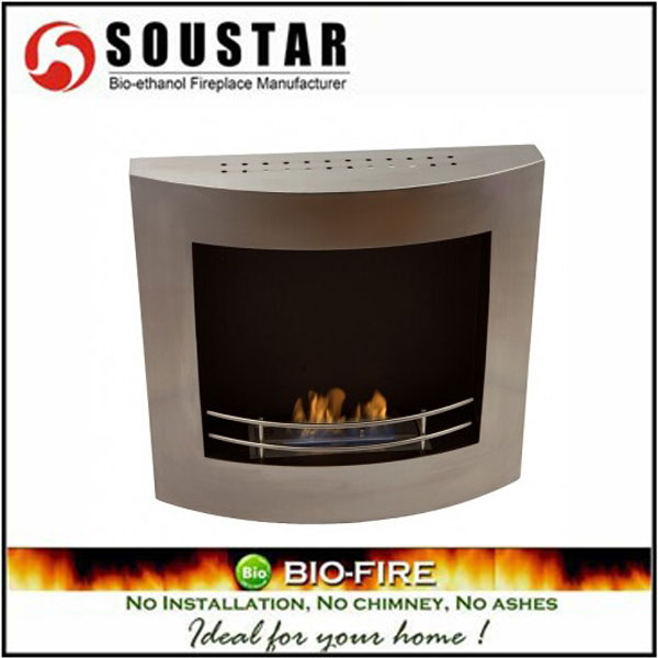 Luxurious AF-02, wall mount ethanol gas fireplace modern indoor