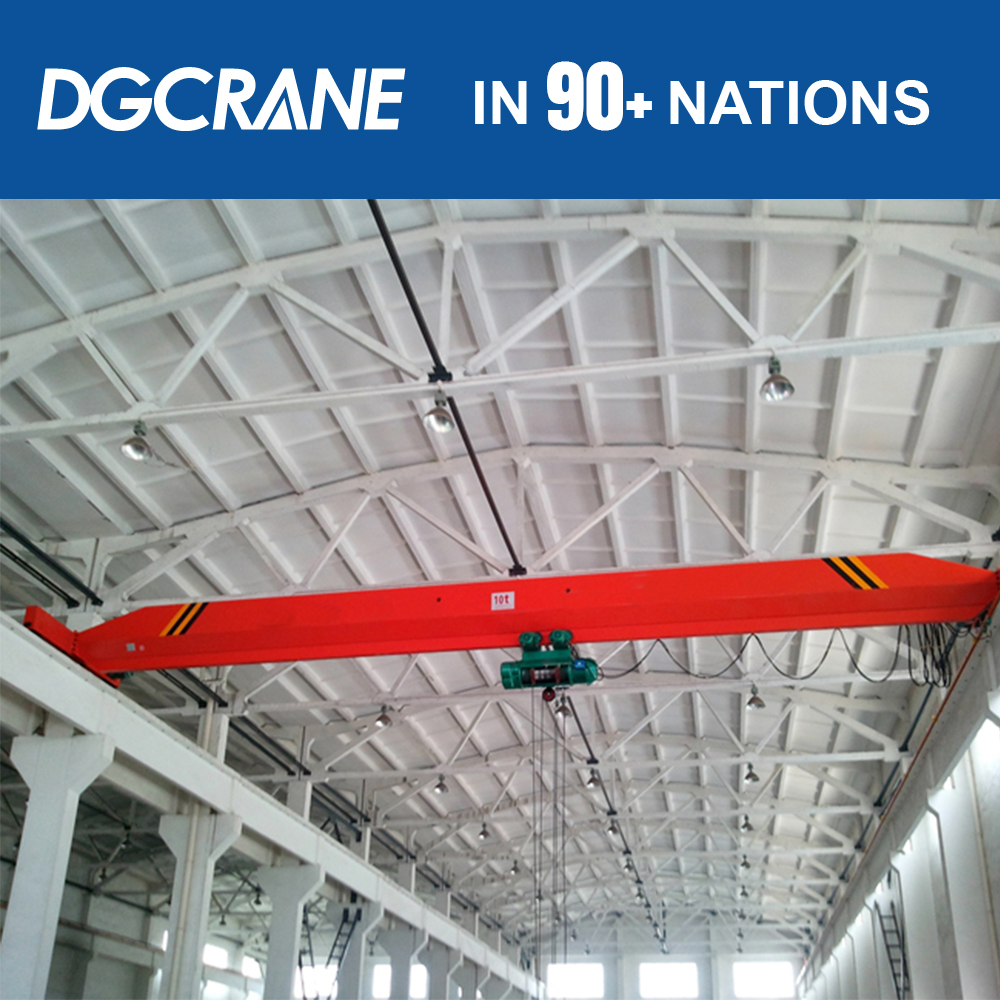 New Series 10T Metal Industry Light Duty Single Track Bridge Crane Price With Ce