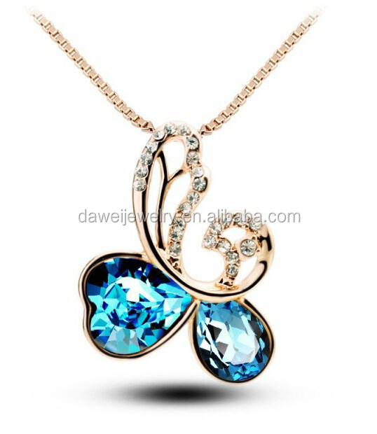 All occasion fashion crystal jewelry necklace with box