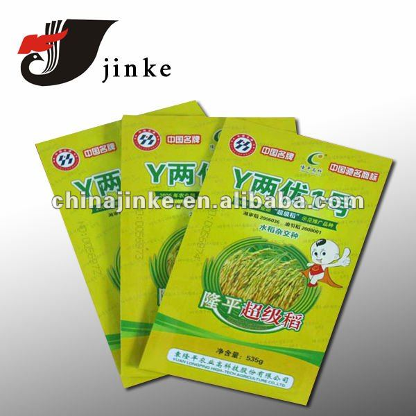 Seed packing plastic