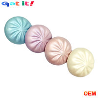 Custom PU foam squishy grip abreact simulation steamed stuffed bun for advertising promotional gifts.