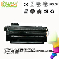 Toner Cartridge for Canon lbp 6300 Printer FOR Canon LBP 6300/6650/imageCLASS MF5850dn/5880dn (PTCRG-119/319/519/719-CE505A)