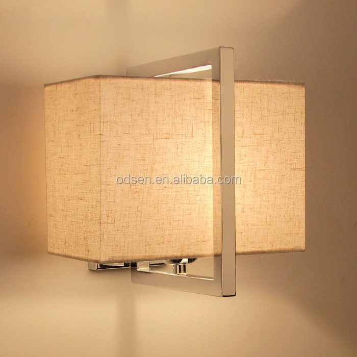 China factory fabric lampshade fancy lights IKEA wall lamp for hotel