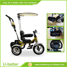 baby trike / new model children bike tricycle with back seat / beautiful pictures of kids push tricycle stroller