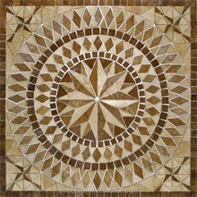 Travertine Floor Medallion 36''x36'' Mosaic Stone Art Tile Wall Marble Mural
