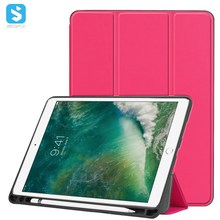 for iPad Pro 10.5 Tri Fold PU Leather Case with Pencil Slot