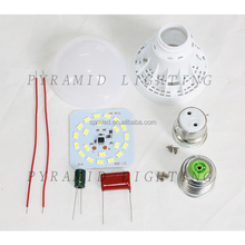 3W 5W 7W 9W 12W E27/B22 Cheap LED Light Bulb Parts Plastic Spare part SKD CKD LED Bulb