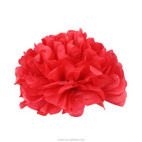 Umiss 2017New Design Colorful Tissue Paper Flower Pompom with glitter,Flash point for Parties