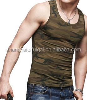 2015 Latest design Mens cotton knitted camo vest