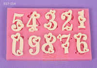 fondant chocolate love number mold,love number shaped cake mould,silicone mold happy birthday decoration
